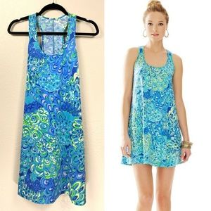 Lilly Pulitzer Lilly's Lagoon Melle Tank Top Dress